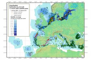Fig. 3 - detectarea poluarilor de la nave in apele EU