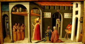 Salvarea celor 3 tineri studenti de catre Sf Nicolae