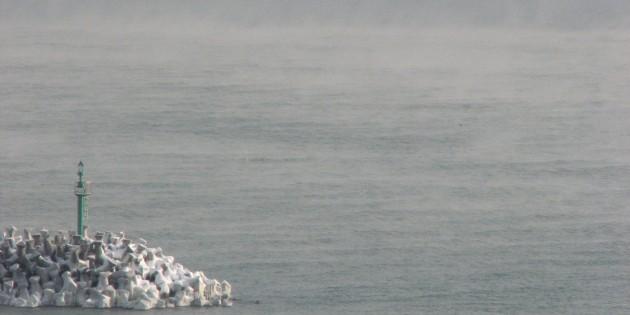 Marea Neagră 'fierbe' la o temperatură atmosferică de -15° Celsius