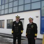 Seful SMFN viceamiral Alexandru Mirsu stanga  Comandantul Flotei, contraamiral de flotila Daniel Capatina